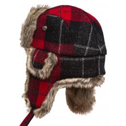 Lumberjack - Praktische und warme Ohrenmütze Harris Tweed Kunstfell