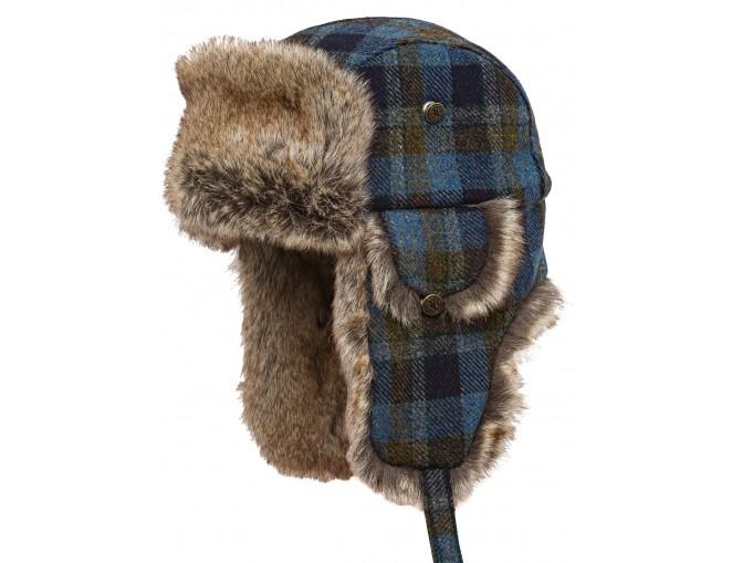 Lumberjack - Praktische und warme Ohrenmütze Shetlandwolle Kunstfell