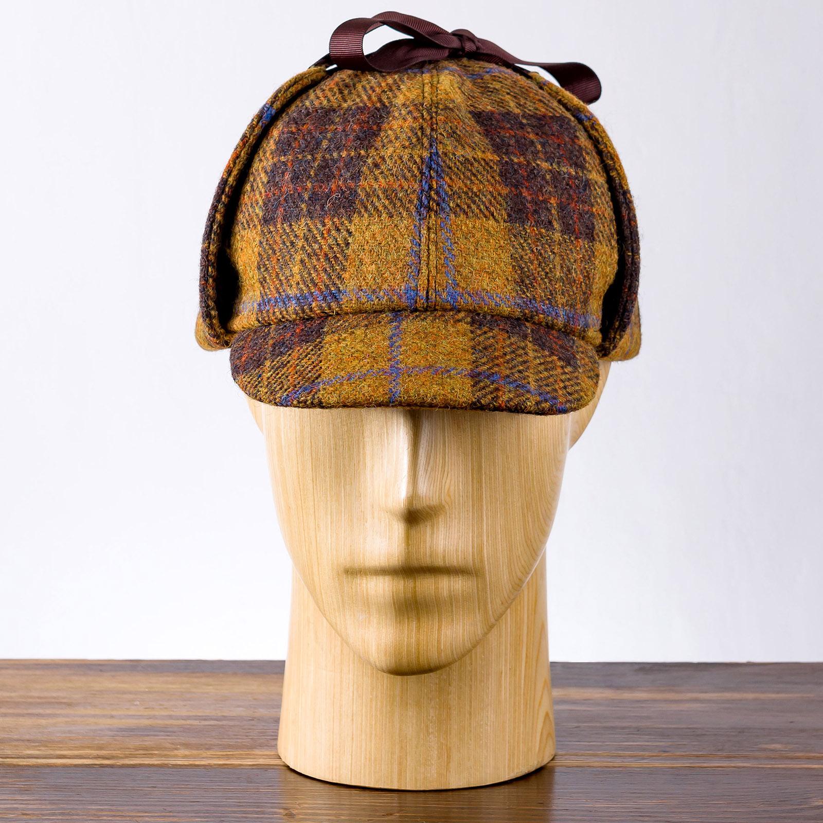 Holmes - Deerstalker,Sherlock Holmes Hut von schottischem Harris Tweed