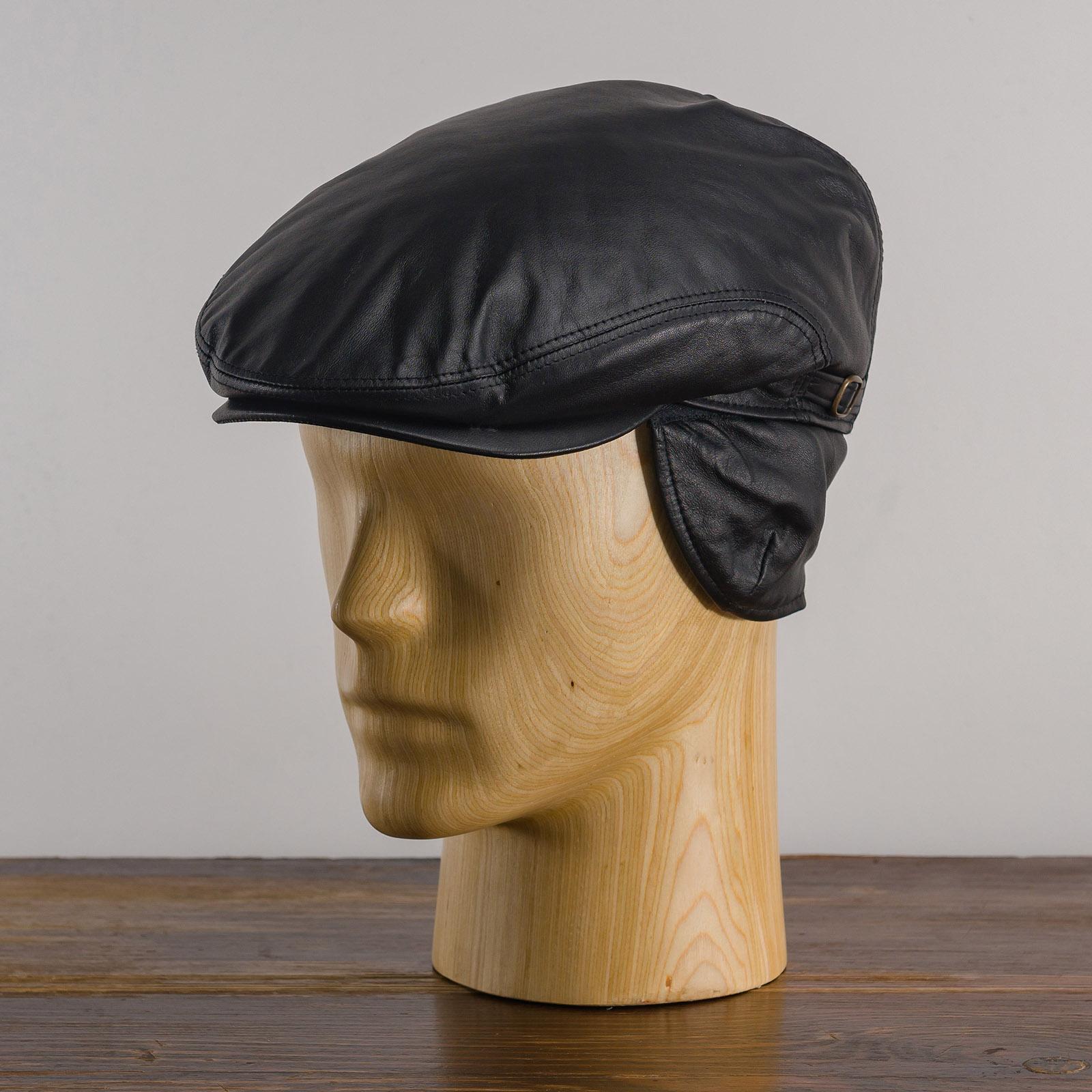Byron - Mütze mit ohrenschutzer, ledermütze männer, schöne wintermütze