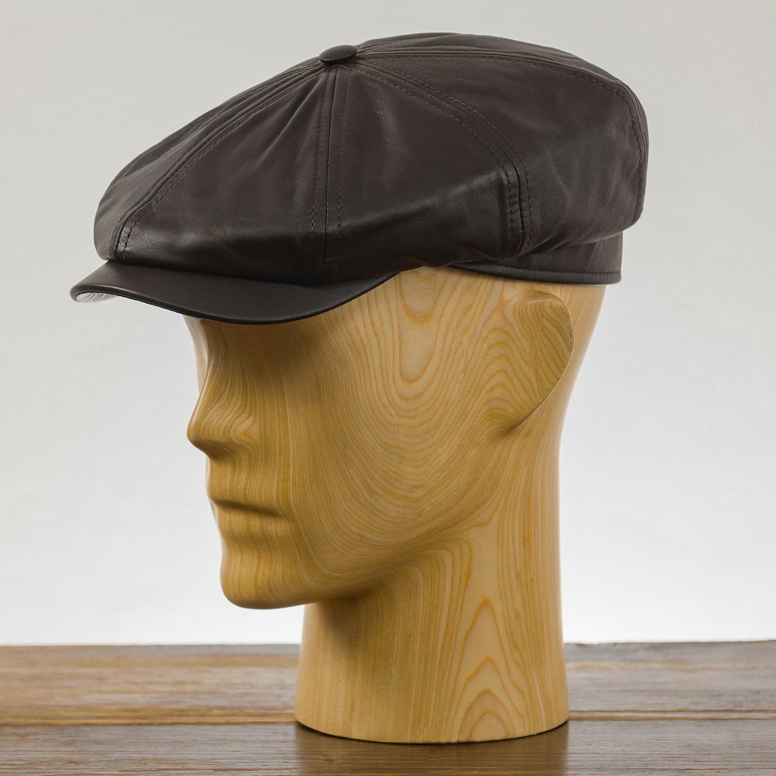 Malone - Schiebermütze, Ledermütze, mütze mit schirm, designer mütze