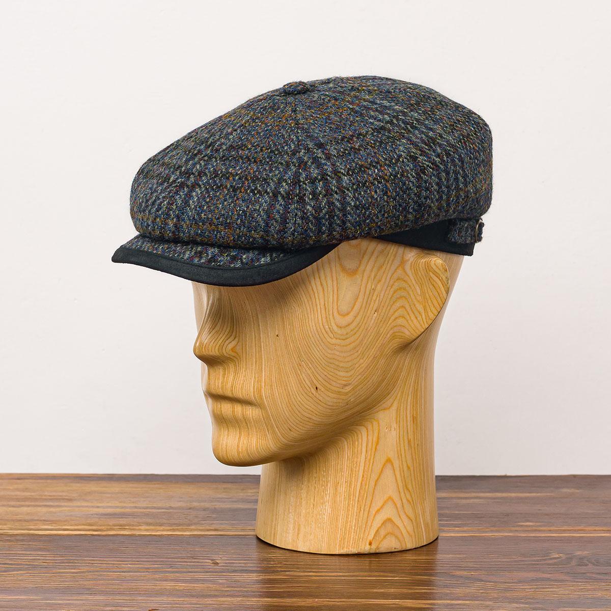 Malone - männer kopfbedeckung, trendige mützen, harris tweed mützen