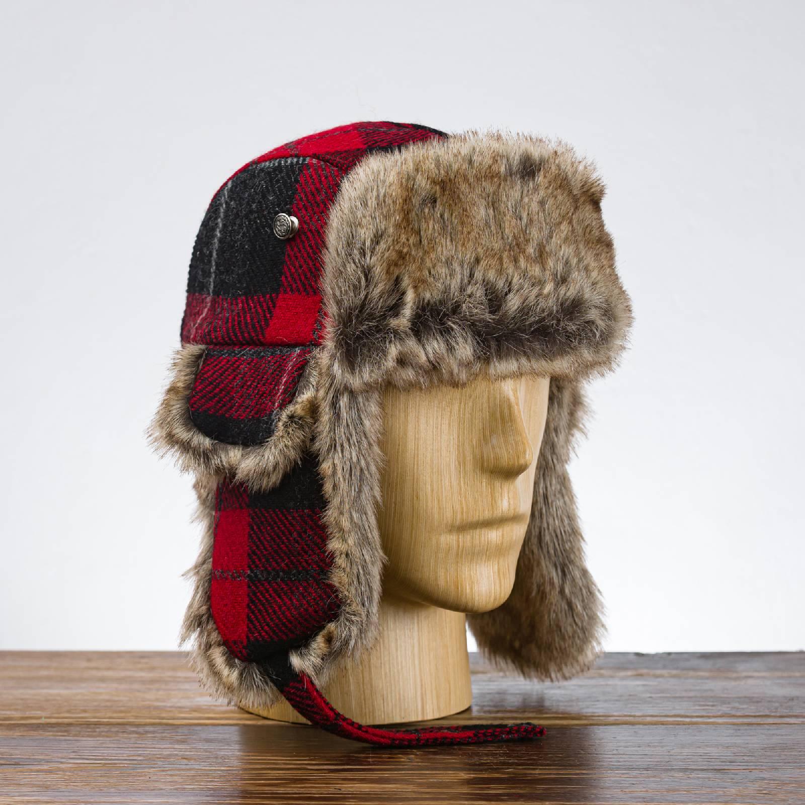 Lumberjack - rot wintermütze passend für alle Köpfe Männer und Frauen