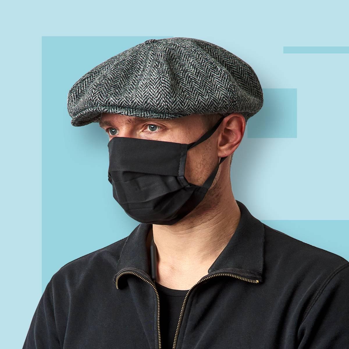 Set mit 5 Stück 3-lagigen wiederverwendbaren Hygienemasken