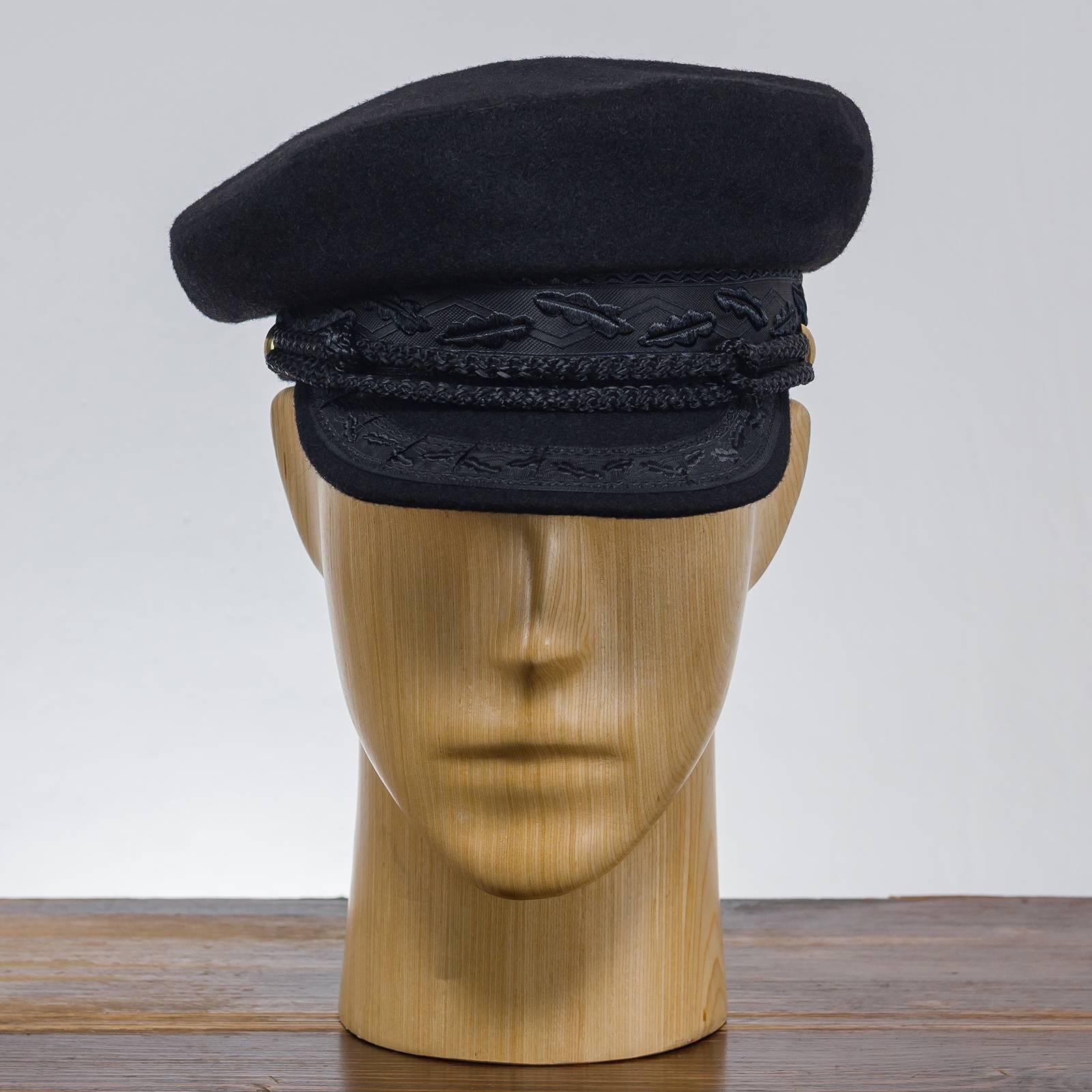 Skipper - Schiffermütze, Wollemütze, mütze mit schirm, schwarze mütze