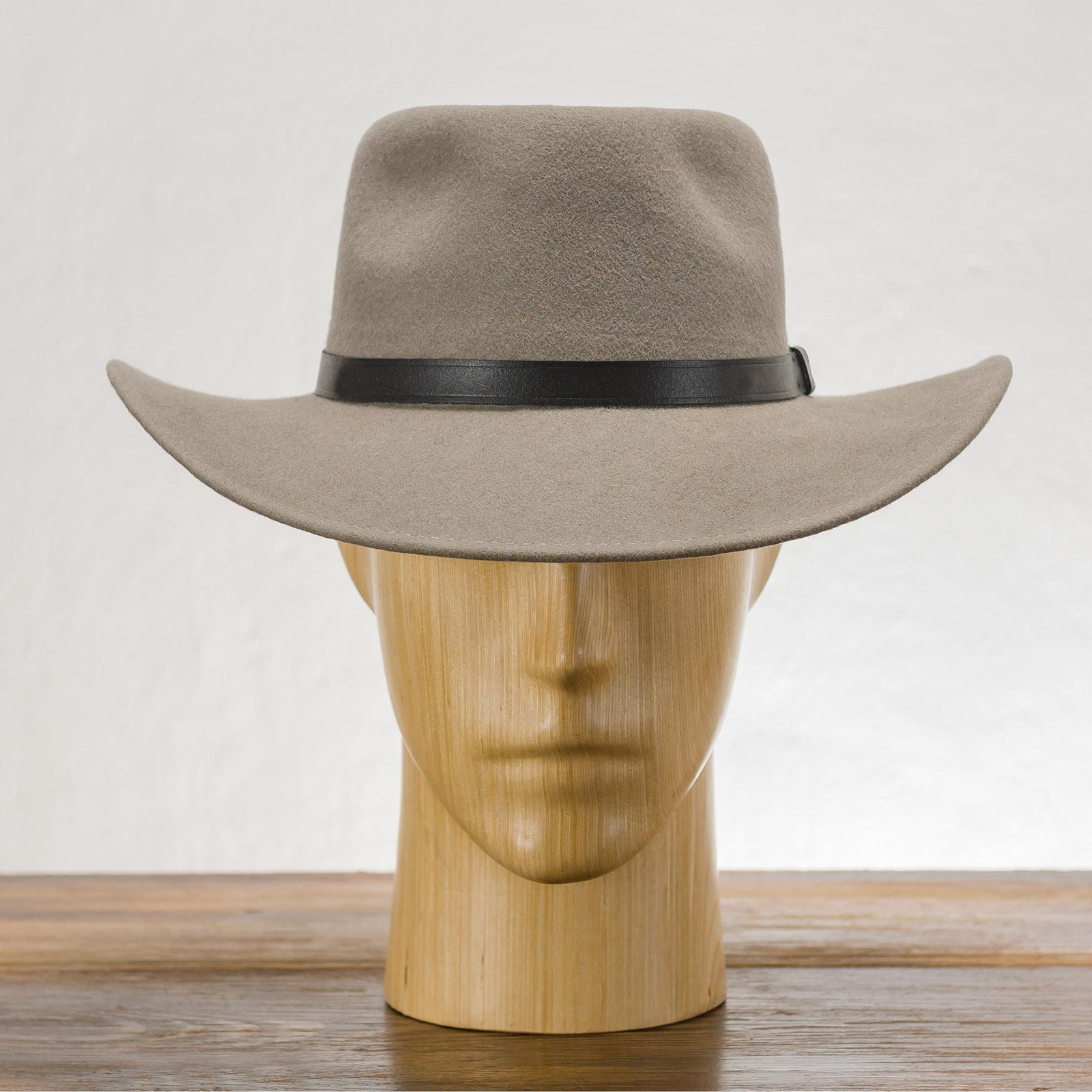 Sharps - grau,schwarz,braun hutmode, herrenhüte, damenhut, Wollflausch